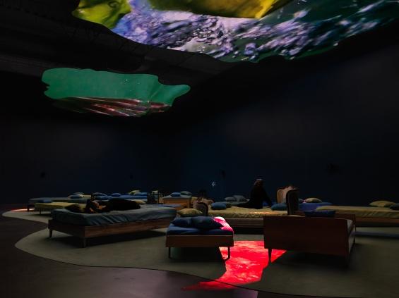"""Pipilotti Rist: Pixel Forest,"" 2016. Exhibition view: New Museum. Photo: Maris Hutchinson / EPW Studio"
