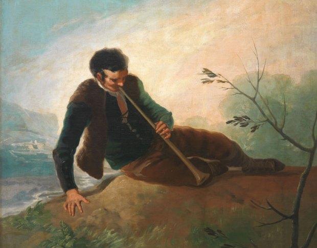 """Франсиско Гойя. """"Пастух, играющий на дудке"""". 1786-87. Масло на холсте. © Madrid, Museo Nacional del Prado"""
