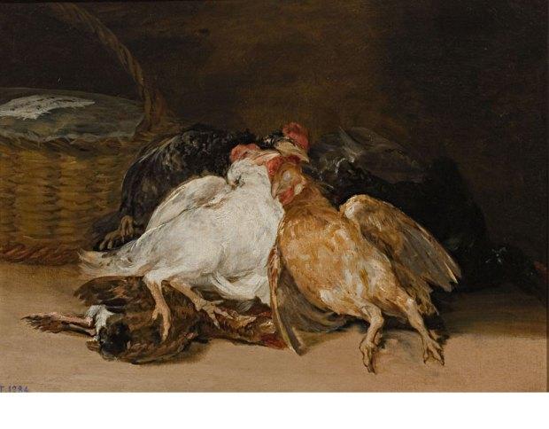 """Франсиско Гойя. """"Мертвые птицы"""". 1810-1812. Масло на холсте. © Madrid, Museo Nacional del Prado"""