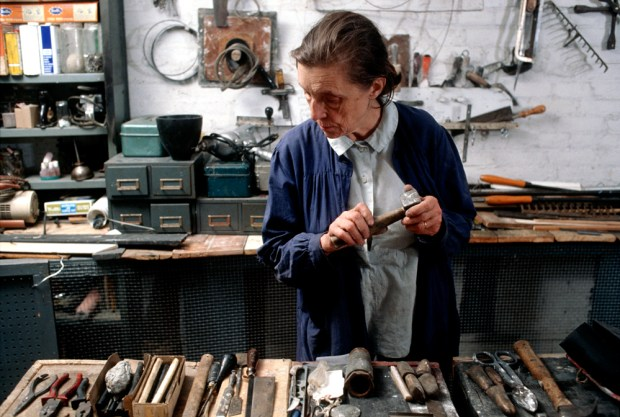 ouise Bourgeois in her home studio in 1974. Photo: Mark Setteducati, © The Easton Foundation