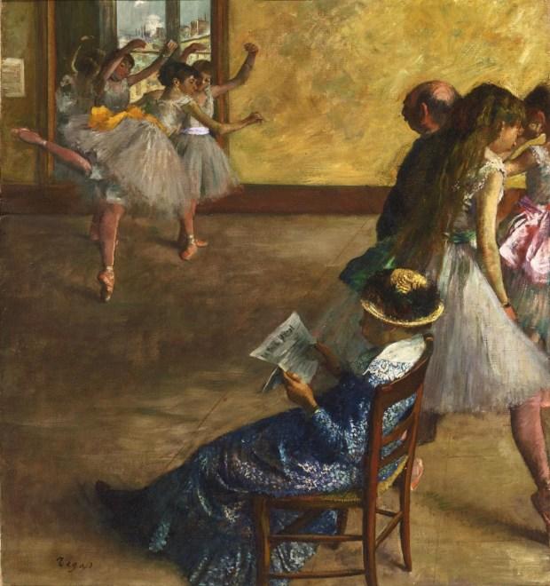 Эдгар Дега. Балетный класс. 1880