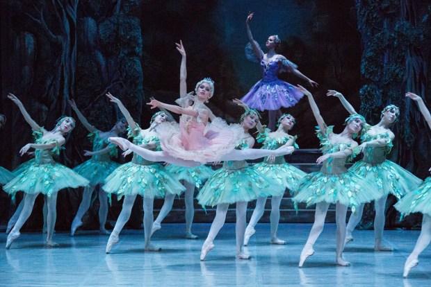 """Сцена из балета """"Спящая красавица"""". Фото - М. Логвинов"""