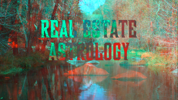 Maxime Rossi, from Real Estate Astrology, 2015, 3D anaglyph video, color, sound, 21 minutes. Director & right eye editor: Maxime Rossi; left eye editor: Julie Gilles; sound design & binaural mix: Alex Finkin; voice over & saxophone: Haizen Paige; title design: Marie Proyart. Courtesy the artist, Galerie Allen, Paris and Galleria Tiziana Di Caro, Naples