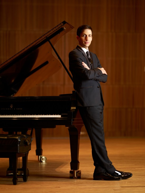 BENJAMIN HOCHMAN photographed at DiMenna Center for Classical Music