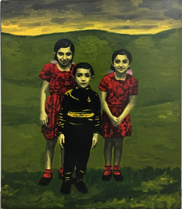 Meir Pichhadze, 1996, Oil on paper mounted on canvas, 61x51 cm