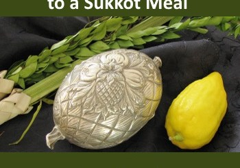 Sukkot Gifts, showing an etrog, lulav and silver etrog case