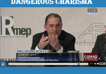 photo of Gideon Levy during the lecture