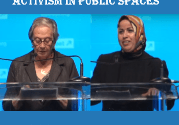 Jewish-Arab pro-peace activism in pubic places