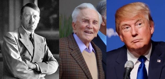 Hitler, Kirk Douglas and Trump