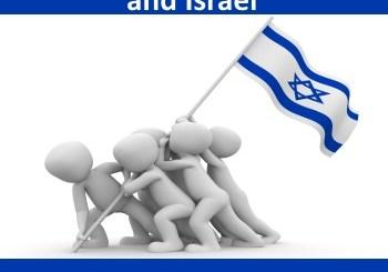 nationalism: group carrying Israeli flag