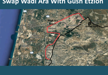 map of Wadi Ara region