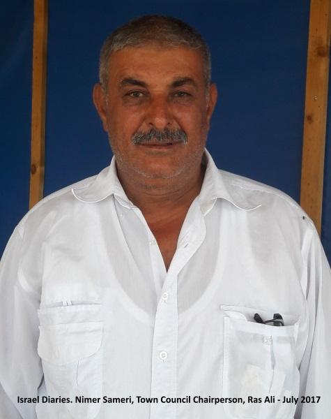 Nimer Samri, head of Ras Ali town committee - נימר סמרי, ראש הועד של ראס עלי