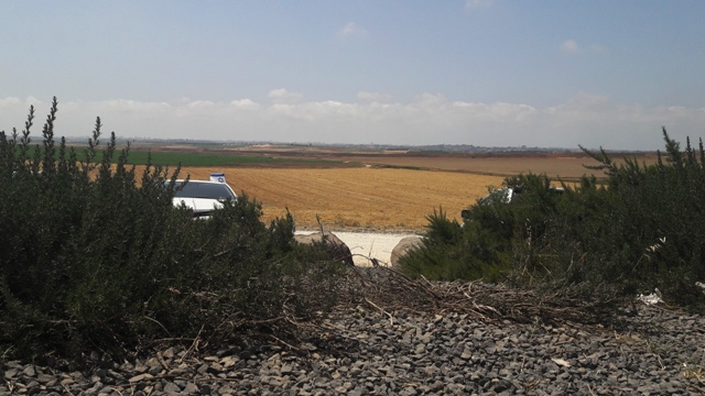 Gaza on the horizon - from Black Arrow Memorial Site