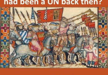 Image of Moor cavalry - Moriscos - what if there had been a UN back then?