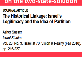 Why the world is stuck on the two-state-solution, title and author of paper