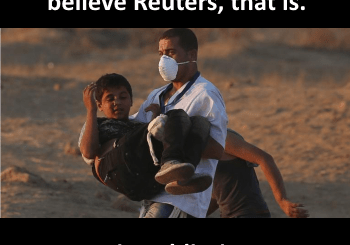 Damn Israeli Bastards! If you believe Reuters, that is