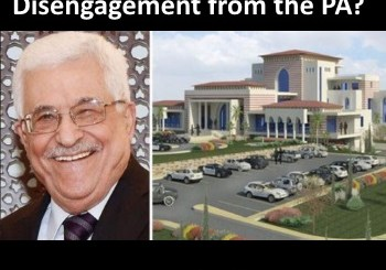 Photo shows Abbas and his house built from USA funds
