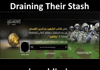 Image of Hamas twitter ad for raising bitcoin funds
