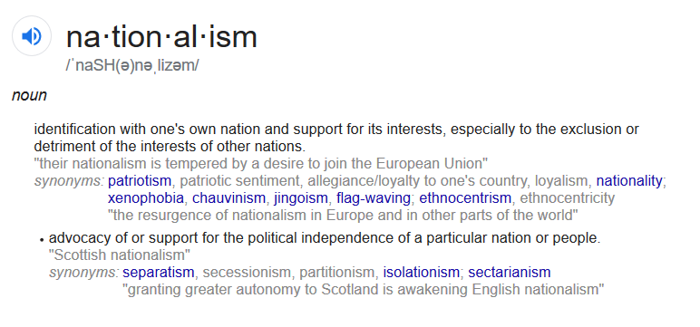 Definition of Nationalism