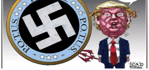 Swastika and Trump Tweet by Terry Mosher