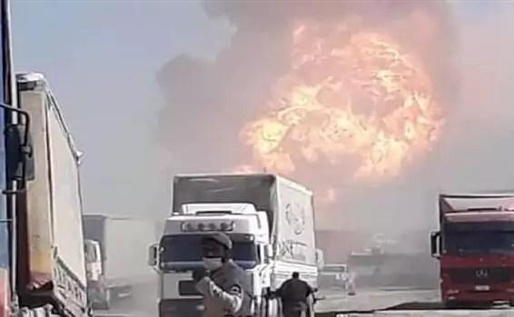 L'explosion au passage de la frontière entre l'Iran et l'Afghanistan