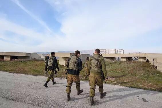 Des soldats de Tsahal dans le Golan, hier // Photo: Eyal Margolin, Ginny