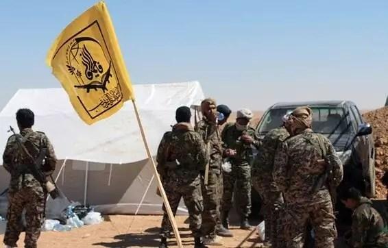 Membres de la milice fatimide en Syrie