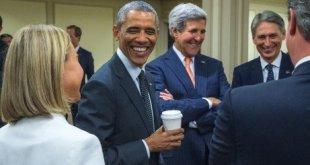 باراك أوباما وجون كيري