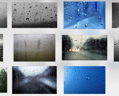 Gotas de Agua en Cristal