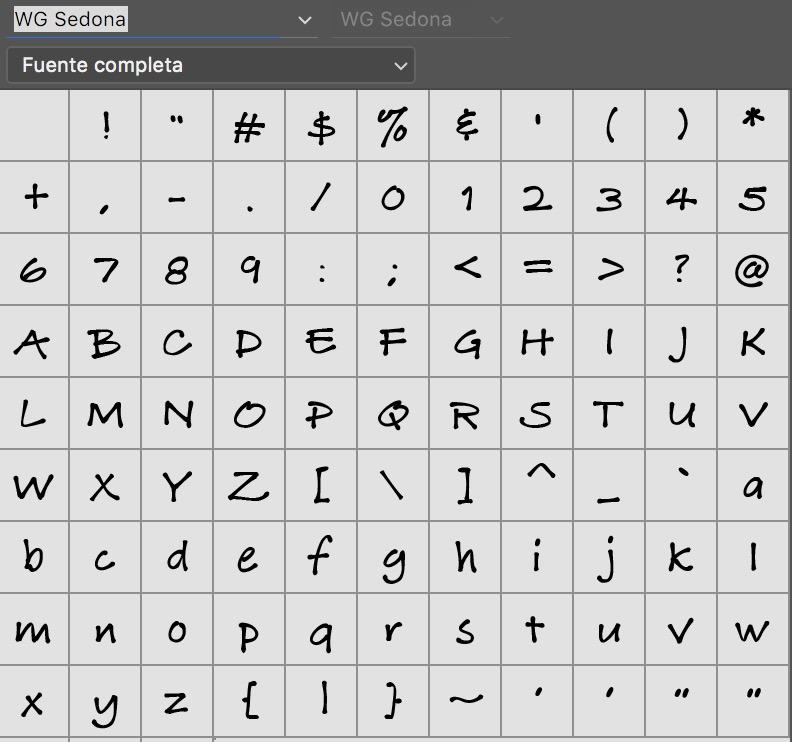 Sedona_alfabeto