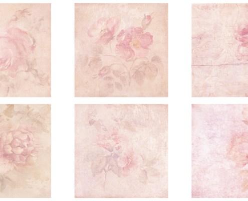 Texturas Flores Acuarela