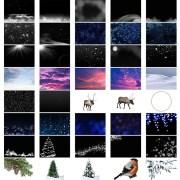 Superposiciones de elementos de invierno