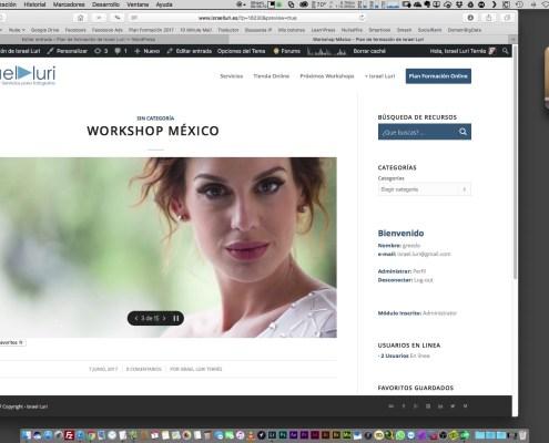 Publicación de fotos en las redes sociales y el blog