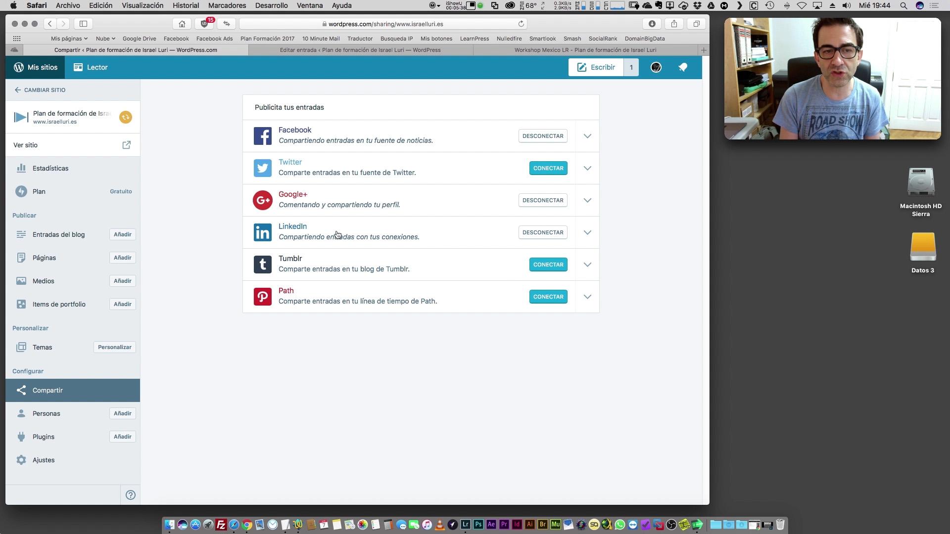 Automatización de la publicación redes sociales desde el blog
