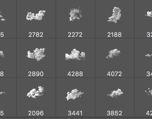 Pinceles de Nubes