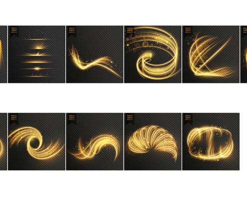Efectos luz dorada