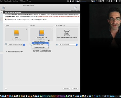 Copias de Seguridad: Carbon Copy Cloner (MacOS)