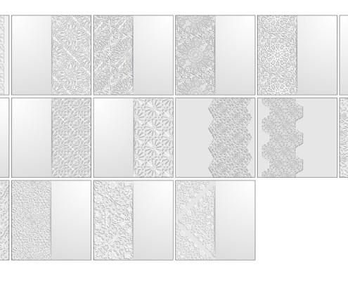 Ornamentos Arabigos Blancos
