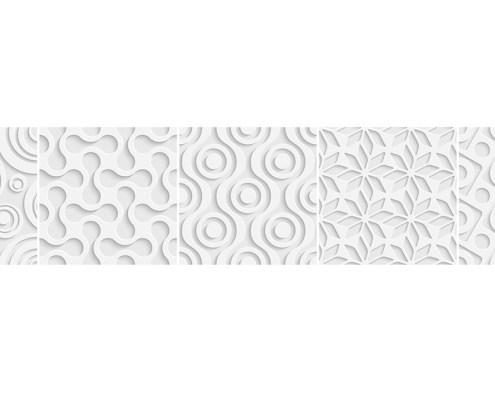 Trasera decorativa blanca