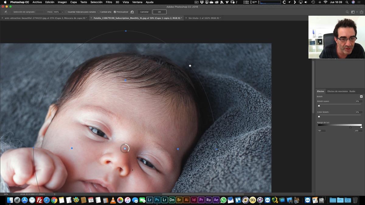 Creación de cabello en Photoshop