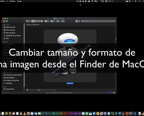 Cambiar tamaño y formato de fotografía desde el Finder de MacOS