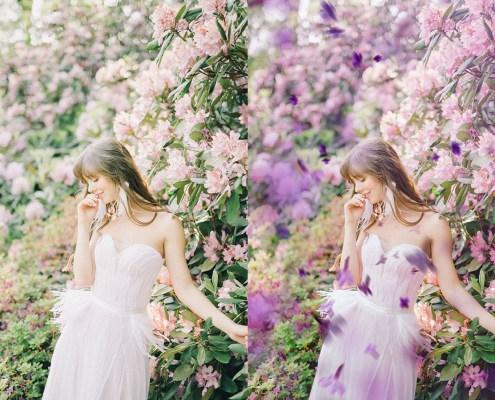 Superposición de lilas