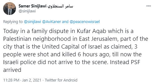 Samer Sinijlawi tweet