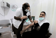 Arabs getting Covid-19 vaccine