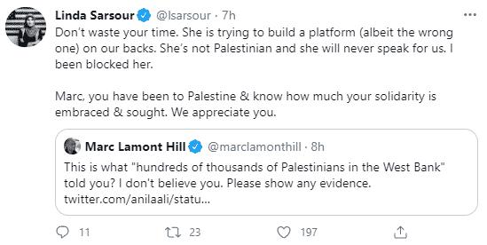 Linda Sarsour tweet to Marc Lamont Hill