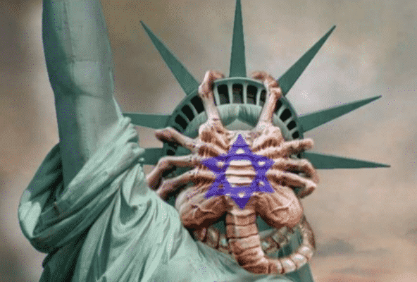 octopus statue of liberty
