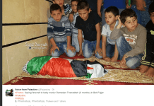 photo of Arab boys with dead baby