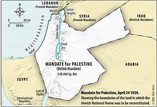 Mandate for Palestine 1920