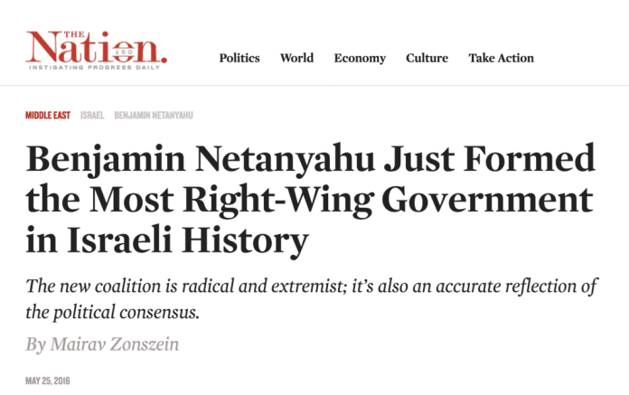 The Nation right wing Netanyahu