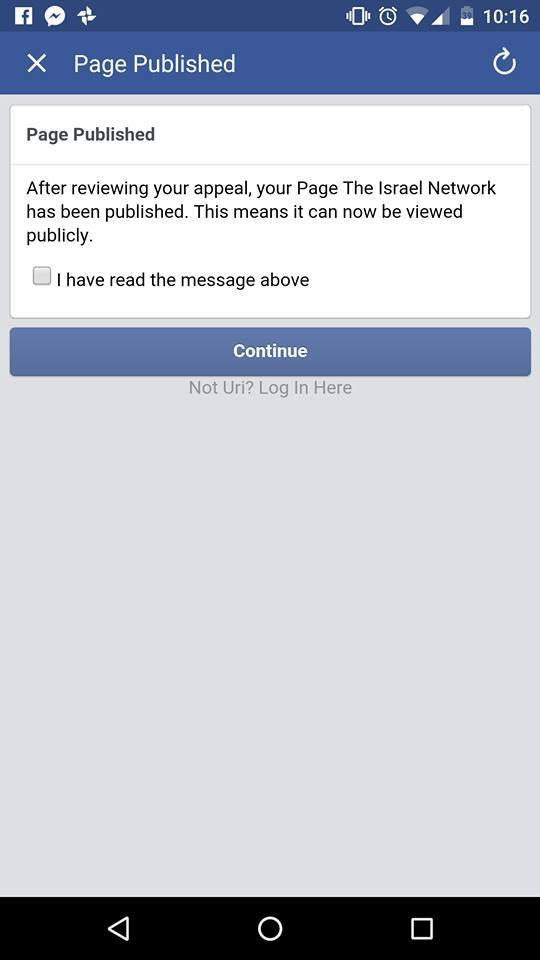 The Israel Network reinstated on Facebook